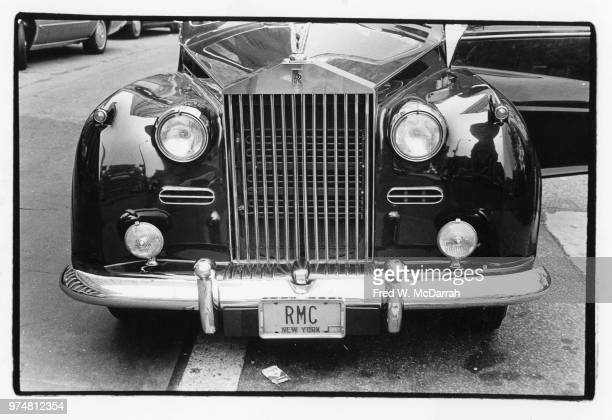 Closeup of the front of Roy Cohn's Rolls Royce New York New York July 21 1977 The attorney's vehicle parked outside the New York County Courthouse...