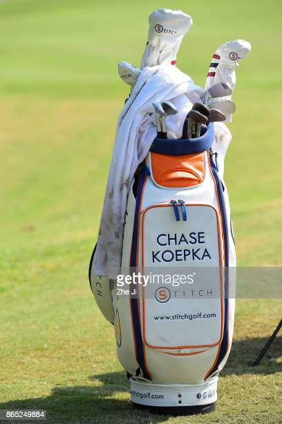 A closeup of the golf bag of Chase Koepka of the United States during the final round of the 2017 Foshan Open at the Foshan Golf Club on October 22...