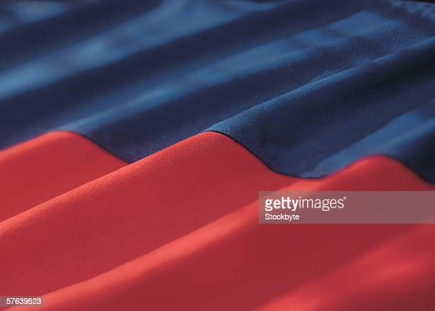 close-up of the haitian flag - haitian flag stock pictures, royalty-free photos & images