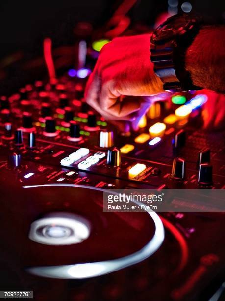 Close-Up Of The Hand Of A Dj