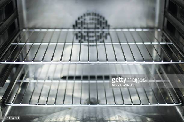 a close-up of the interior of a clean oven - rack stock pictures, royalty-free photos & images