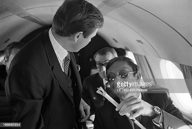 CloseUp Of The King Hassan Ii Of Morocco Au Maroc en janvier 1968 Closeup du Roi HASSAN II du Maroc Le roi HASSAN II reçoit le journaliste Raymond...