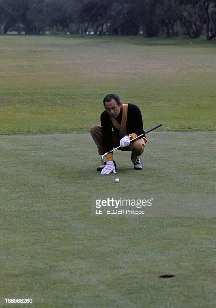 CloseUp Of The King Hassan Ii Of Morocco Au Maroc en janvier 1968 le Roi HASSAN II jouant au golf