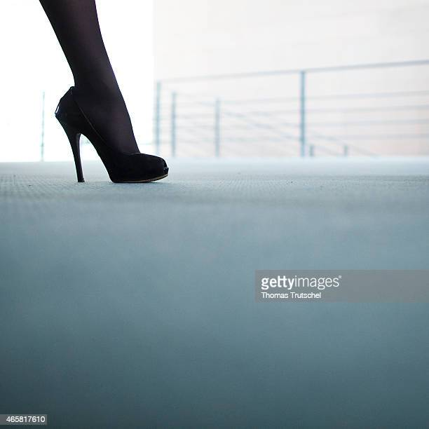 Closeup of the leg of a businesswoman on January 12 2011 in Berlin Germany The photo symbolizes women in managerial positions