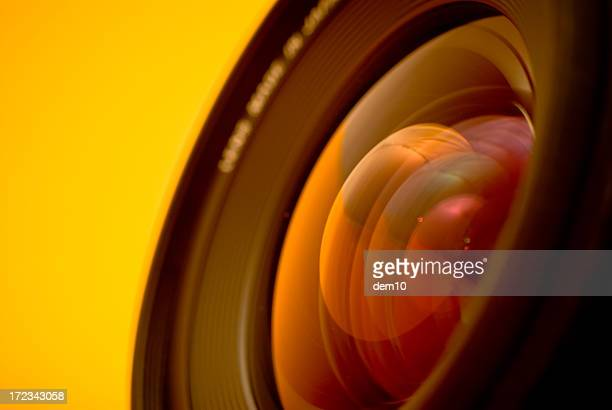 Close-up of the lens