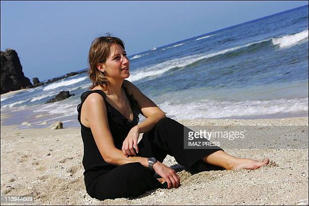 Closeup of the navigator Maud Fontenoy In Saint Gilles Reunion On November 22 2005The French navigator Maud Fontenoy stays at La Reunion in the...