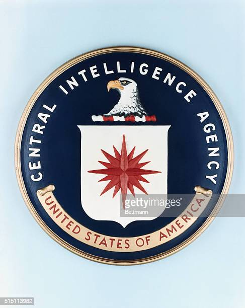 Closeup of the official seal of the Central Intelligence Agency