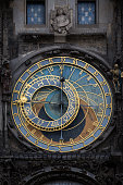 Closeup of the old astronomical clock in Prague