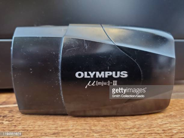 Closeup of the Olympus Stylus Epic or Olympus Stylus MJUII 35mm film camera a popular analog film camera which has developed a cult following online...