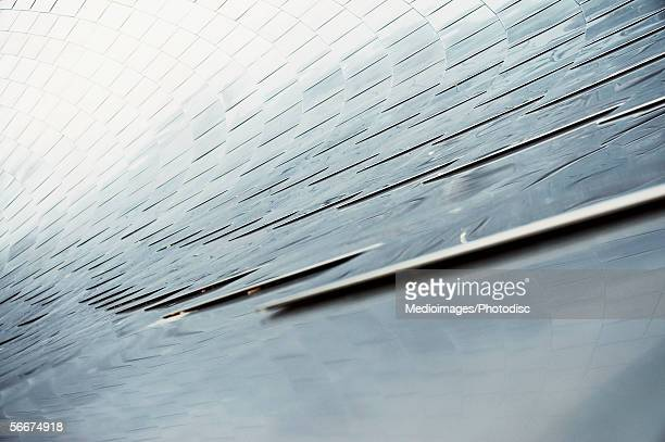 close-up of the panel on a bridge, chicago, illinois, usa - millenium park stock photos and pictures