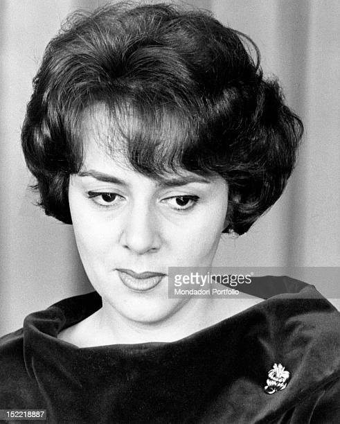 Close-up of the pop and jazz music singer Jula De Palma; the singer worked as an actress while she was younger and now she would like to work again...