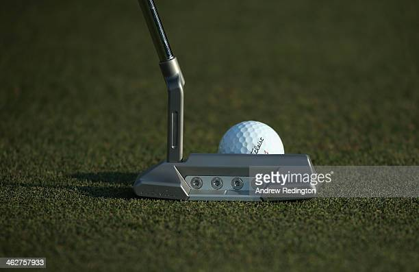 A closeup of the putter of Paul Lawrie of Scotland during the Pro Am event prior to the start of the Abu Dhabi HSBC Golf Championship at the Abu...