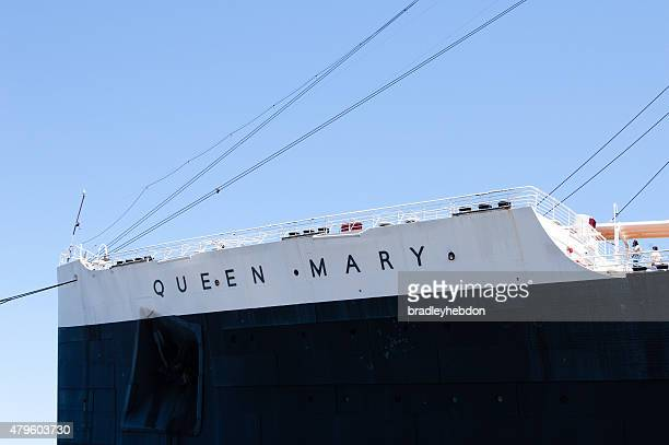 Close-up of The Queen Mary bow