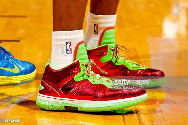 brand new a4ca2 a3e3c A closeup of the seasonal Li Ning sneakers of Dwyane Wade of the Miami Heat  as