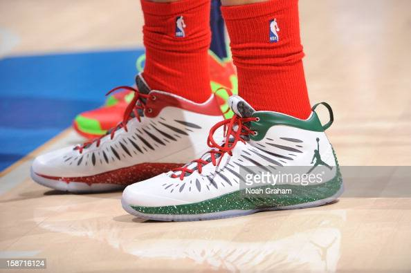 A Closeup Of The Special Seasonal Nike Air Jordan Sneakers Worn By News Photo Getty Images
