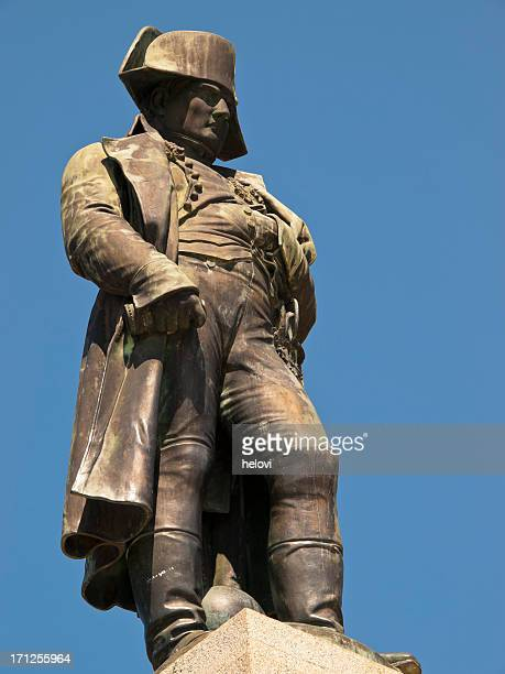 close-up of the statue of napoleon in ajaccio - ajaccio stock photos and pictures