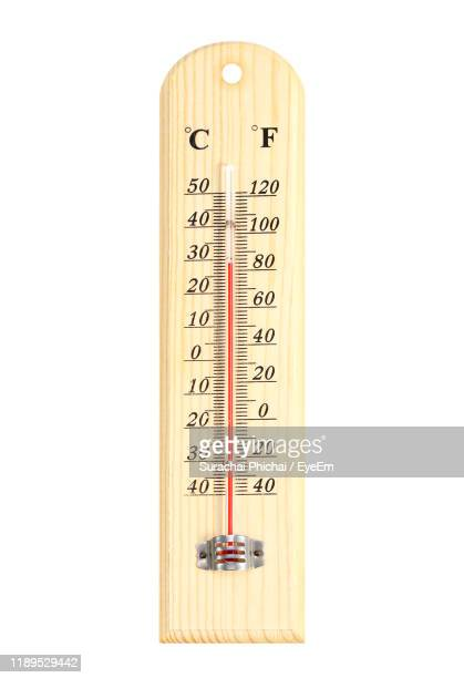 close-up of thermometer on white background - 温度 ストックフォトと画像