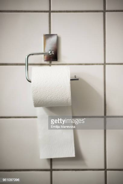 close-up of toilet paper roll - funny toilet paper imagens e fotografias de stock