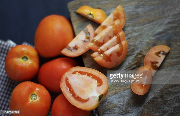 Close-Up Of Tomato Slices