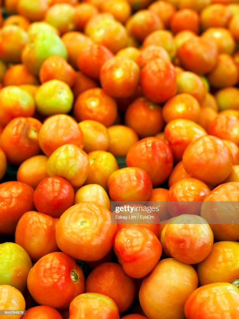 Close-Up Of Tomatoes For Sale : Stock Photo