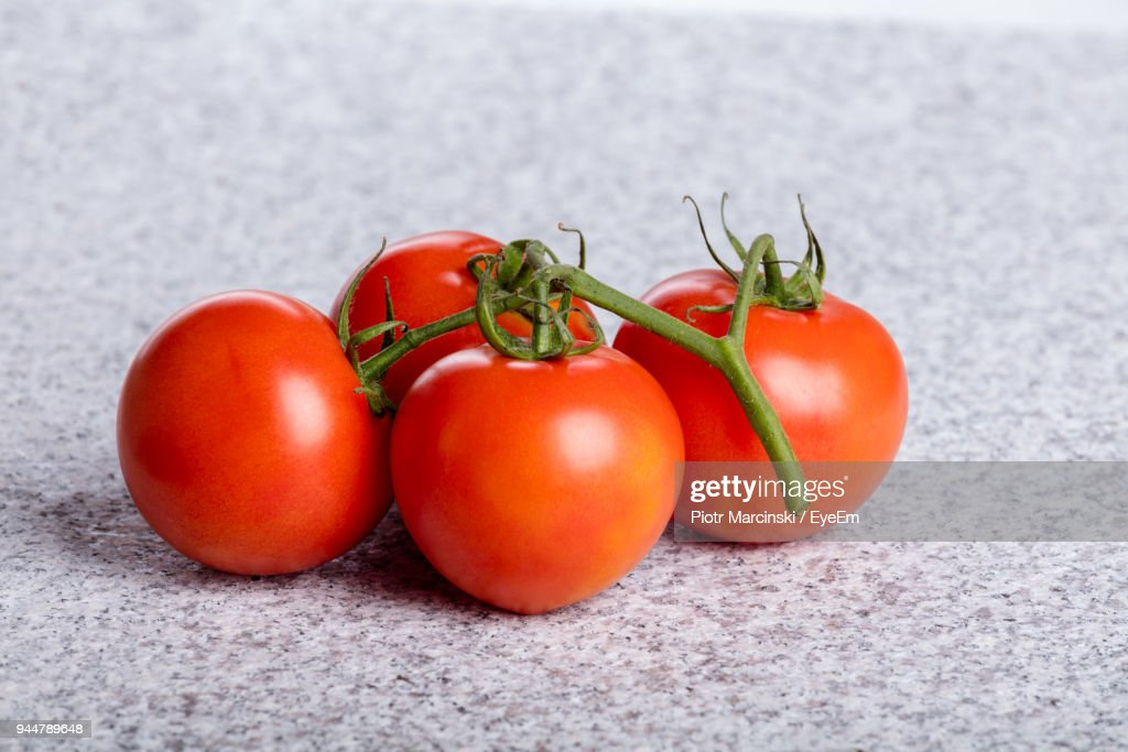 Close-Up Of Tomatoes On Table : Stock Photo