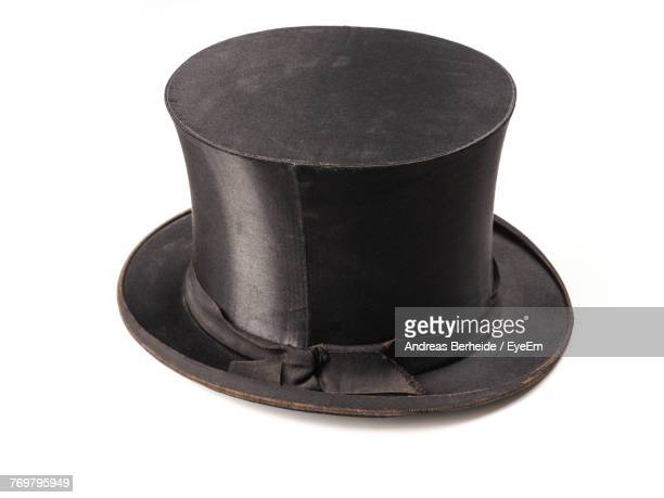 Close-Up Of Top Hat On White Background