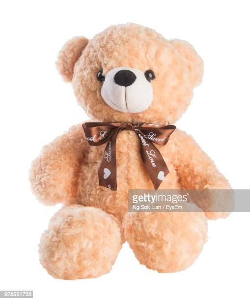 close-up of toy against white background - stuffed toy stock pictures, royalty-free photos & images