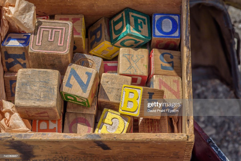 Close-Up Of Toy Blocks : Stock Photo