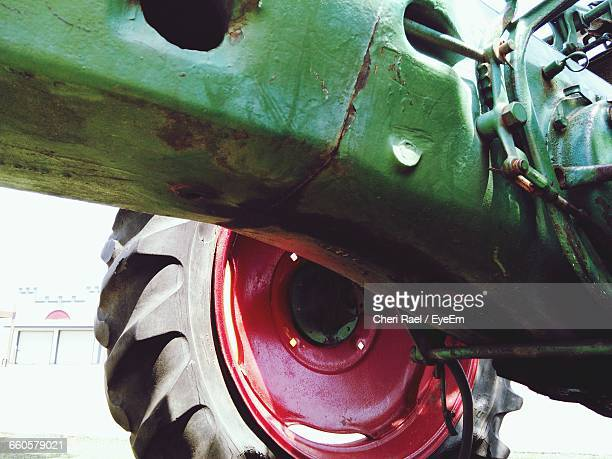 Close-Up Of Tractor Tire