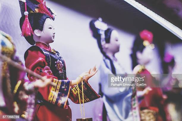 close-up of traditional dolls for sale in shop - parham emrouz stock pictures, royalty-free photos & images