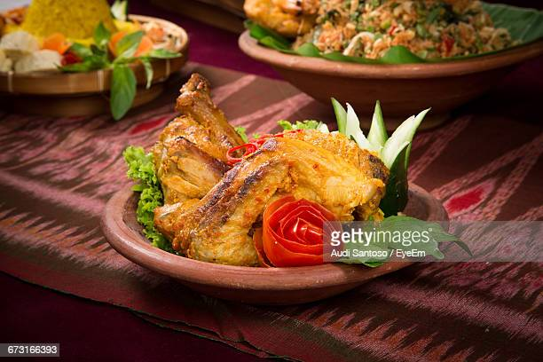 Close-Up Of Traditional Indonesian Food