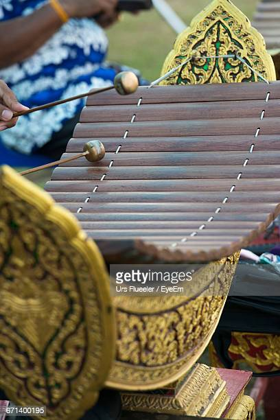 Close-Up Of Traditional Xylophone
