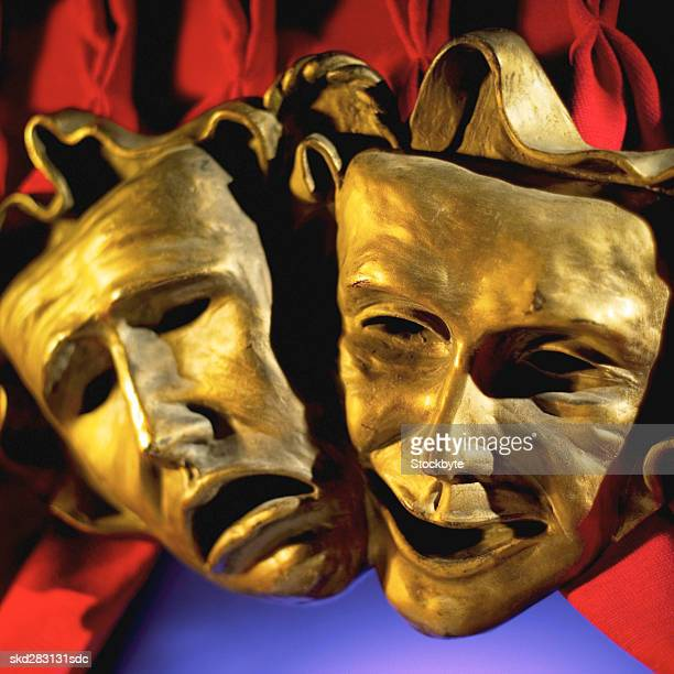 Close-up of tragedy and comedy mask