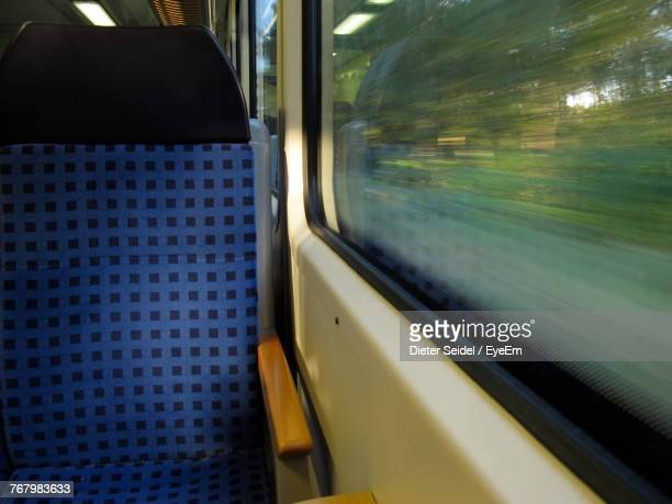 Close-Up Of Train Window