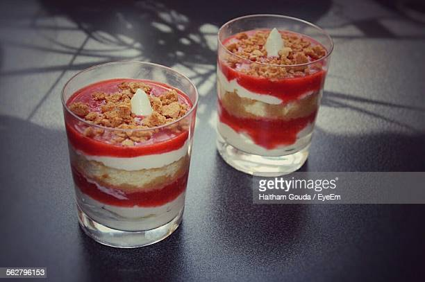 Close-Up Of Trifle In Glass