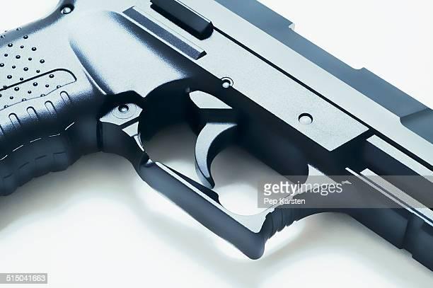 Close-up of trigger on a handgun