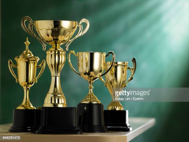 close-up of trophies - eyeem collection stock photos and pictures