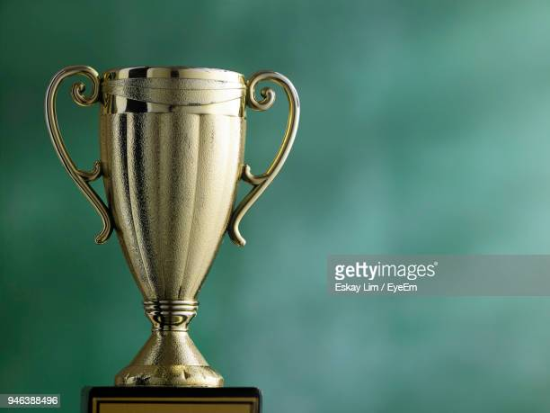 close-up of trophy - cup stock pictures, royalty-free photos & images