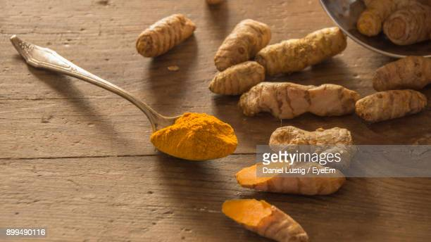 Close-Up Of Turmeric On Table