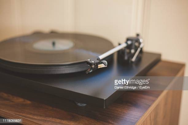 close-up of turntable - deck stock pictures, royalty-free photos & images