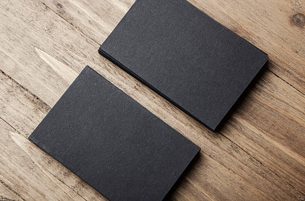 Free business cards template images pictures and royalty free stack of a blank business card closeup of two stack of blank black business cards on wajeb Image collections
