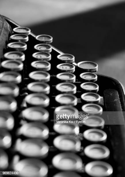 close-up of typewriter - ksi stock photos and pictures