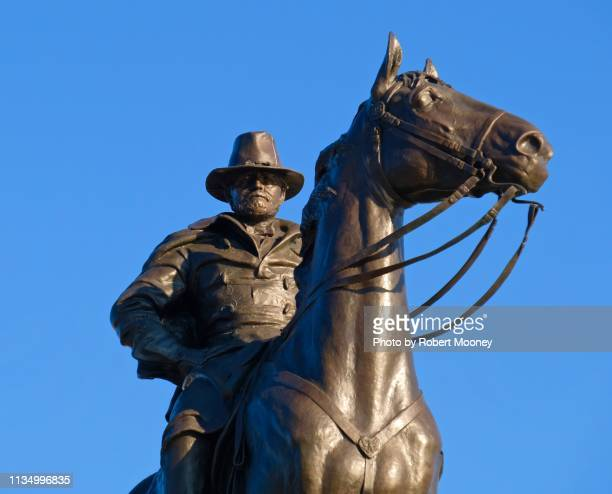 close-up of ulysses s. grant memorial equestrian statue in washington, dc - ulysses s grant stock pictures, royalty-free photos & images