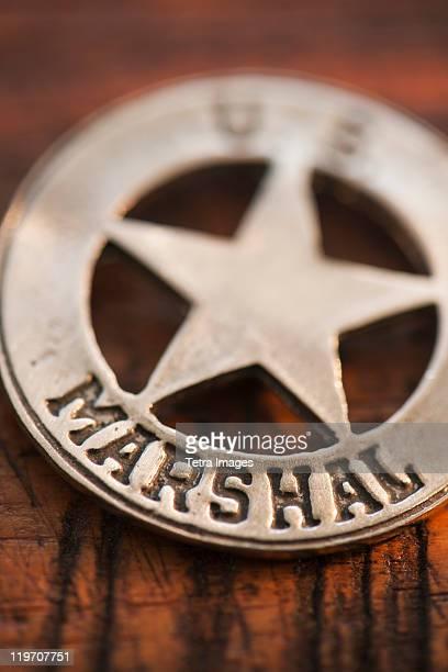 Close-up of United States Marshal badge