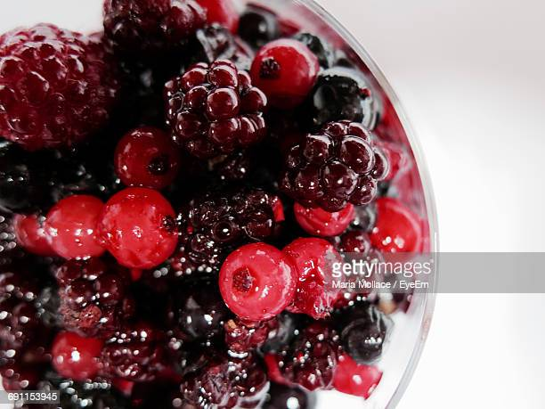 Close-Up Of Various Berries In Bowl On White Background
