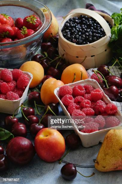 Close-Up Of Various Fruits On Table