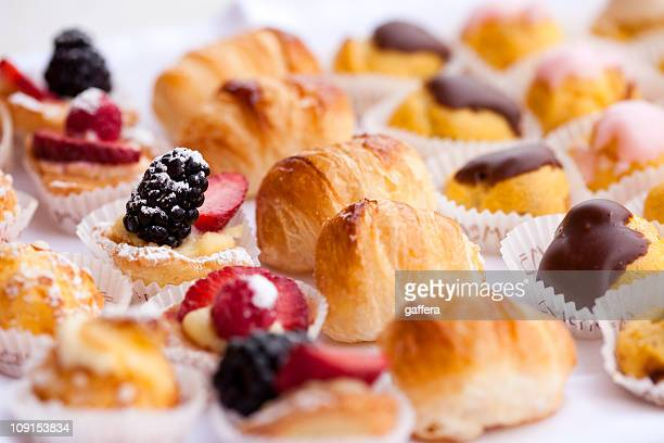 Close-up of various Italian pastries