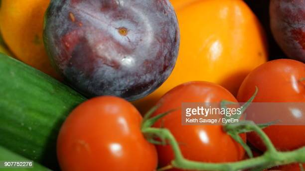 close-up of vegetables and fruits - keith savage stock-fotos und bilder