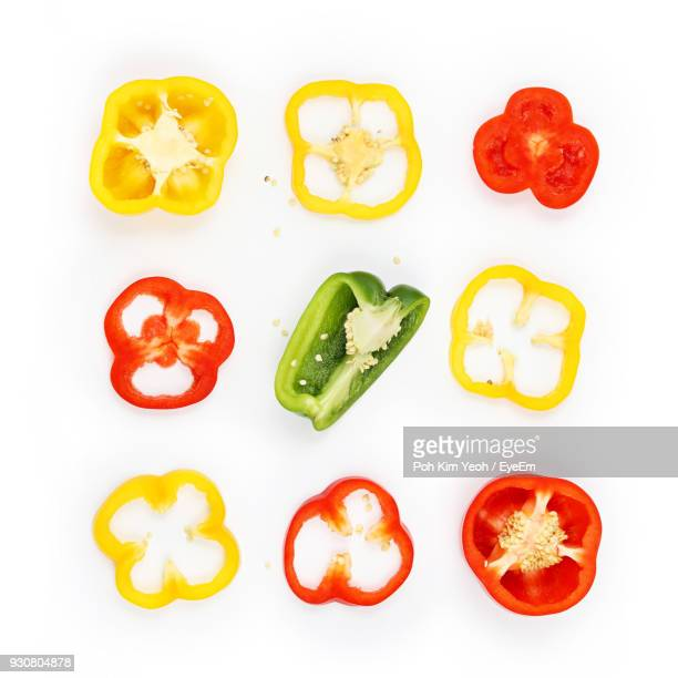 Close-Up Of Vegetables Over White Background