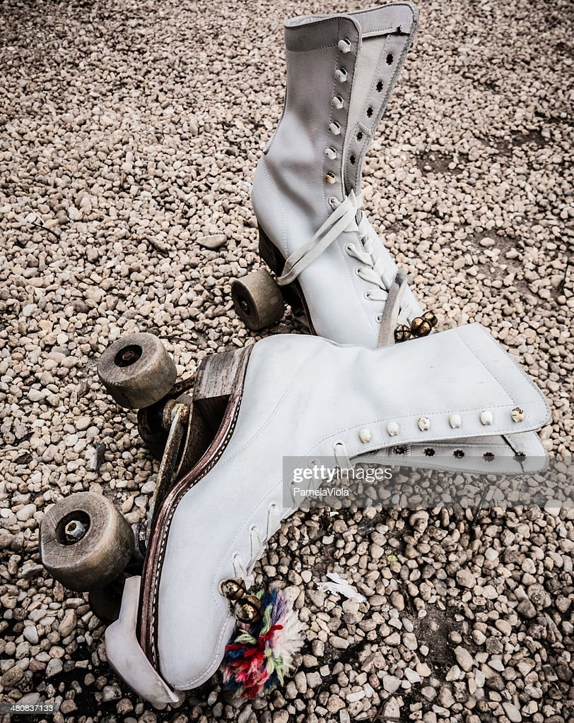 Close-up of vintage roller skates : Stock Photo